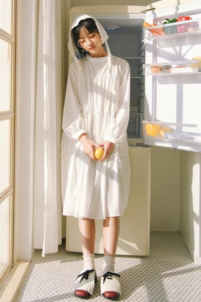 Nectarine Diary - BASIC WHITE DRESS