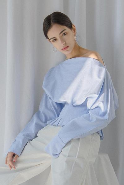 Ourhour - OFF SHOULDER SHIRT