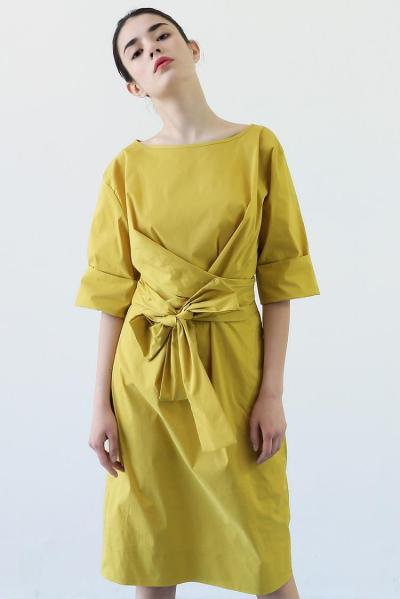 ZIJUE - LONG DRESS WITH BOW DETAIL