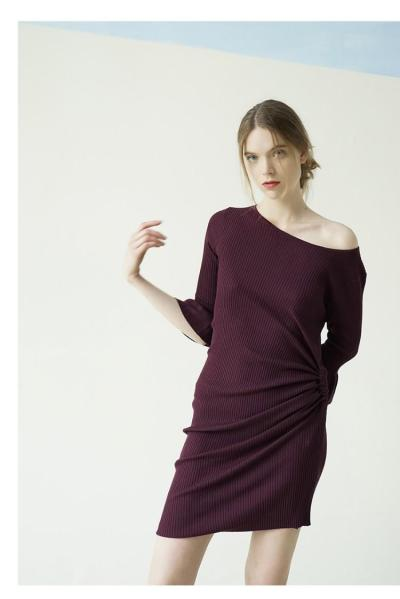 ZIJUE - PLEATED ASYMMETRY DRESS